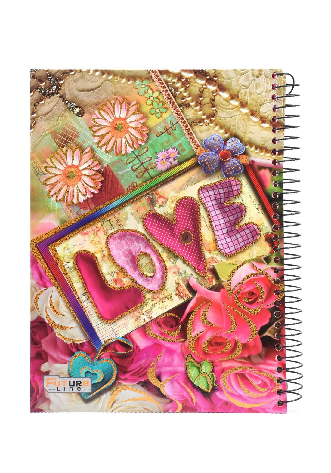 دفتر 200 ورقة سيم برسمة Love KHB-800