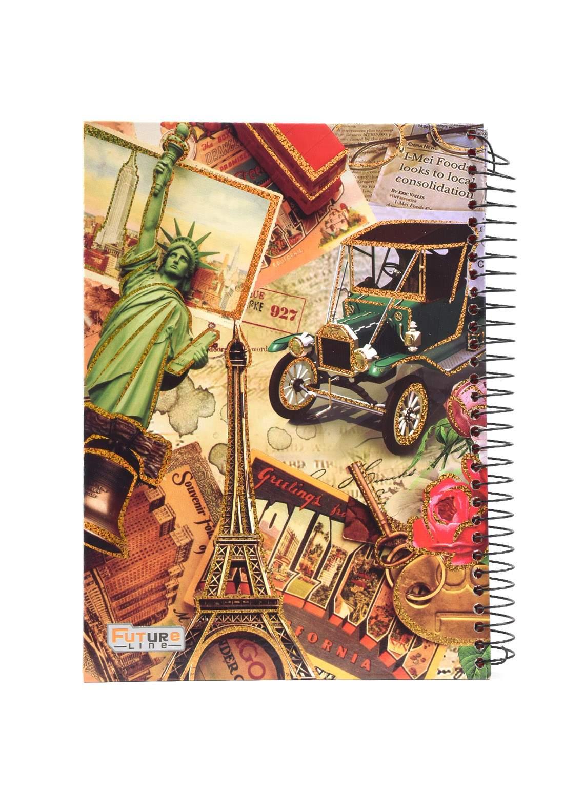 دفتر 200 ورقة سيم برسمة برج باريس KHB-800