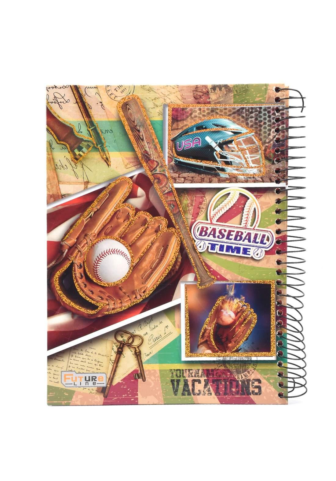 دفتر 200 ورقة سيم برسمة Base Ball Time KHB-800