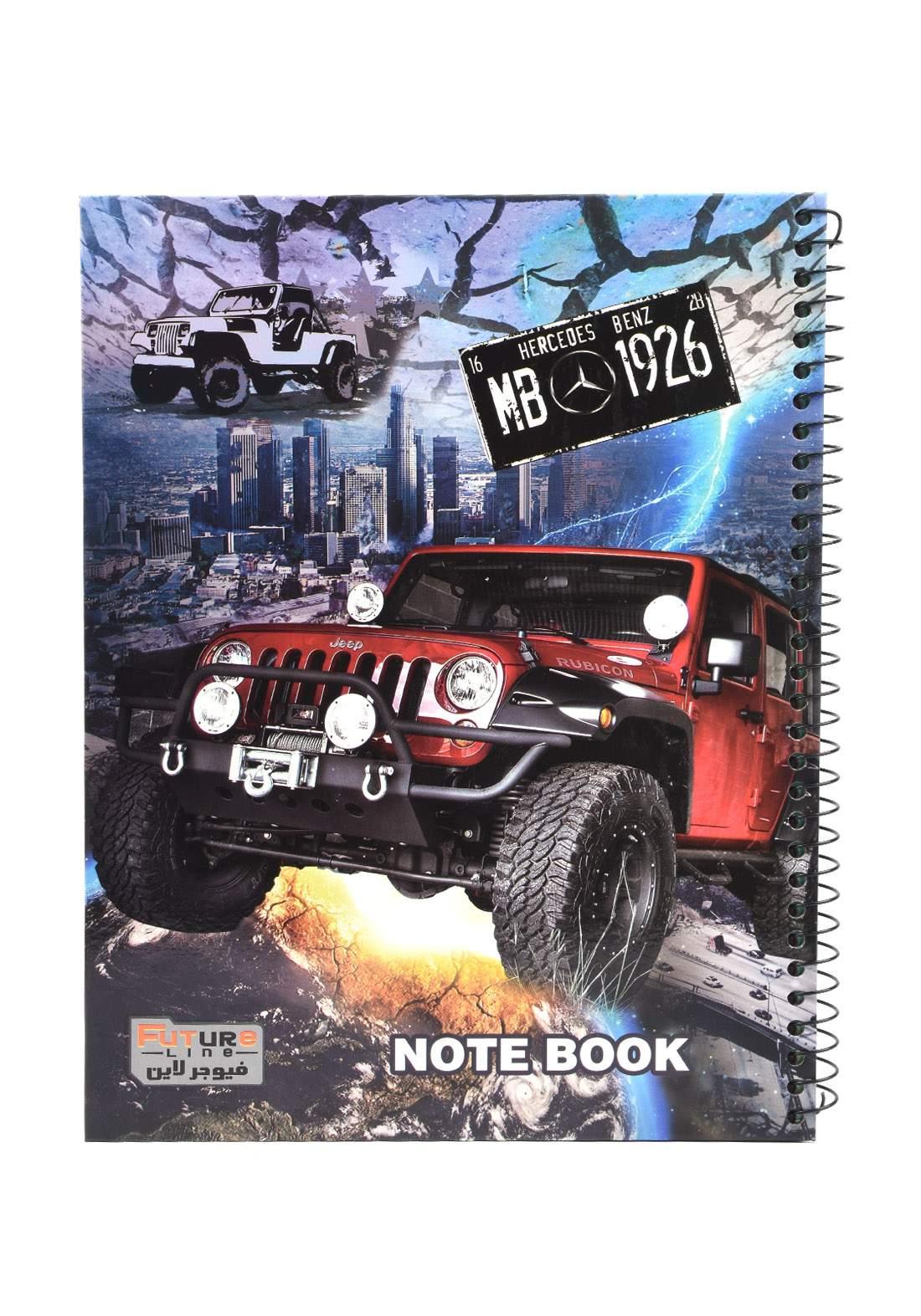 دفتر 100 ورقة سيم برسمة سيارة KH-3000