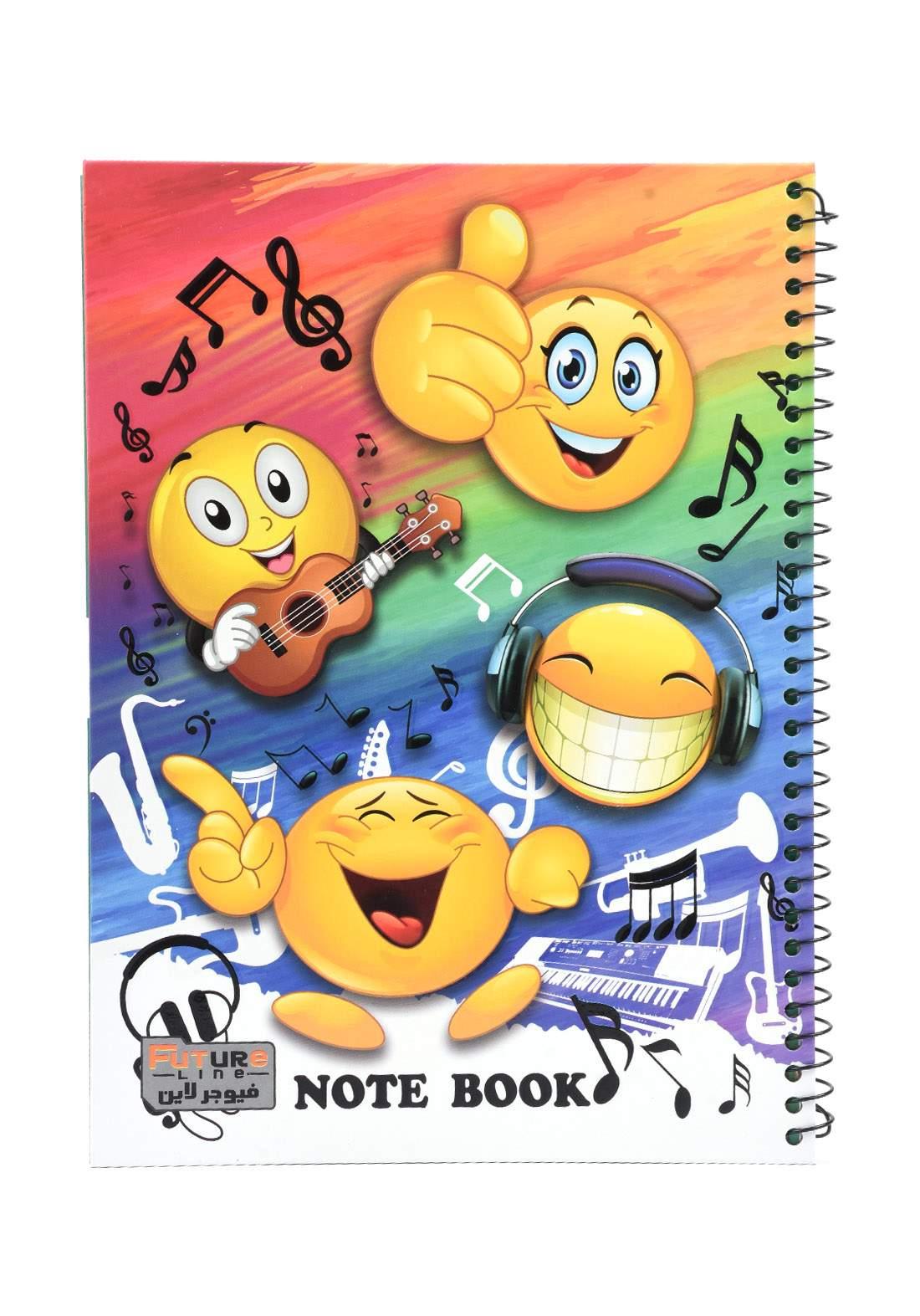 دفتر 100 ورقة سيم برسمة emoji KH-3000