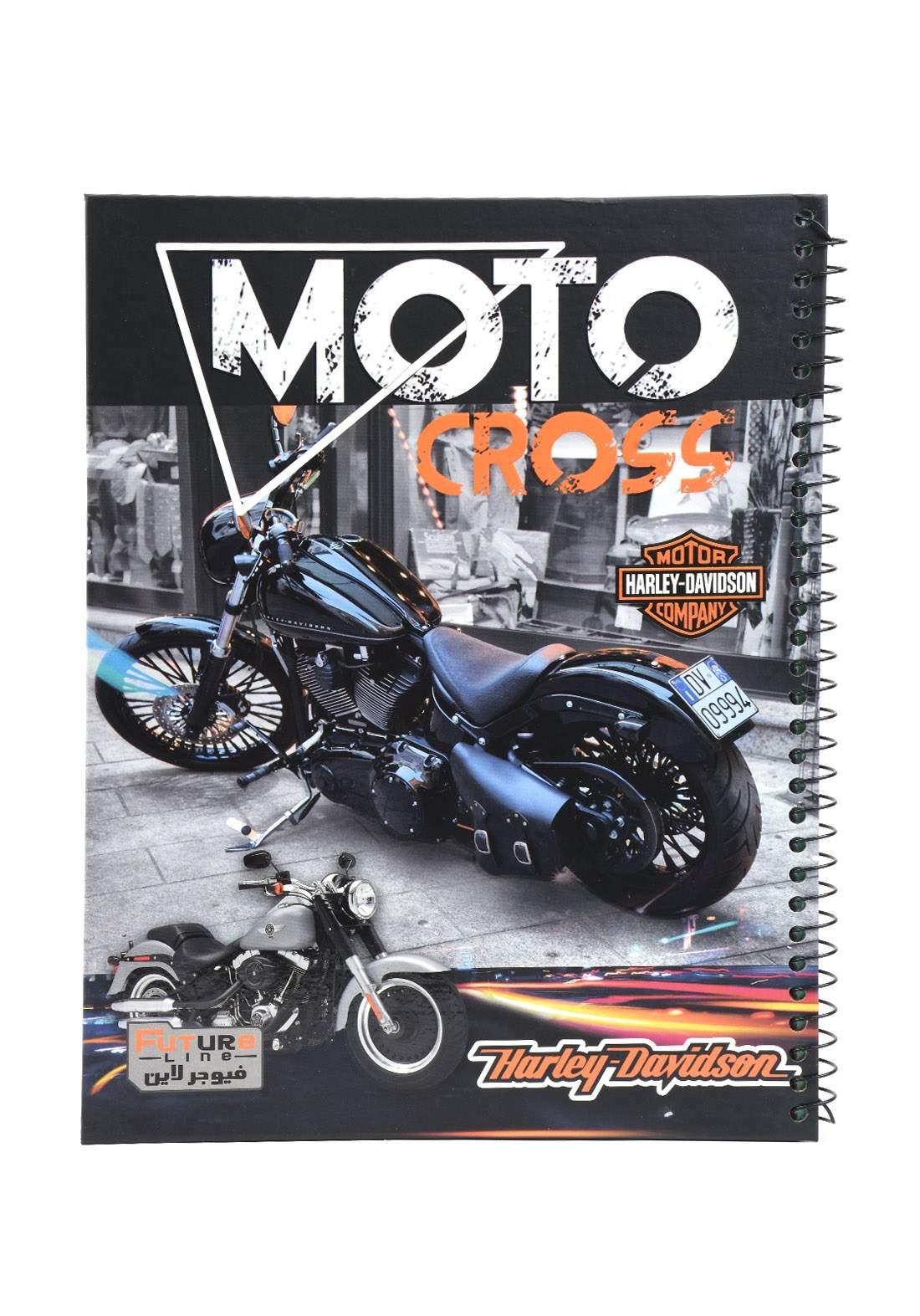 دفتر 100 ورقة سيم برسمة دراجة KH-3000