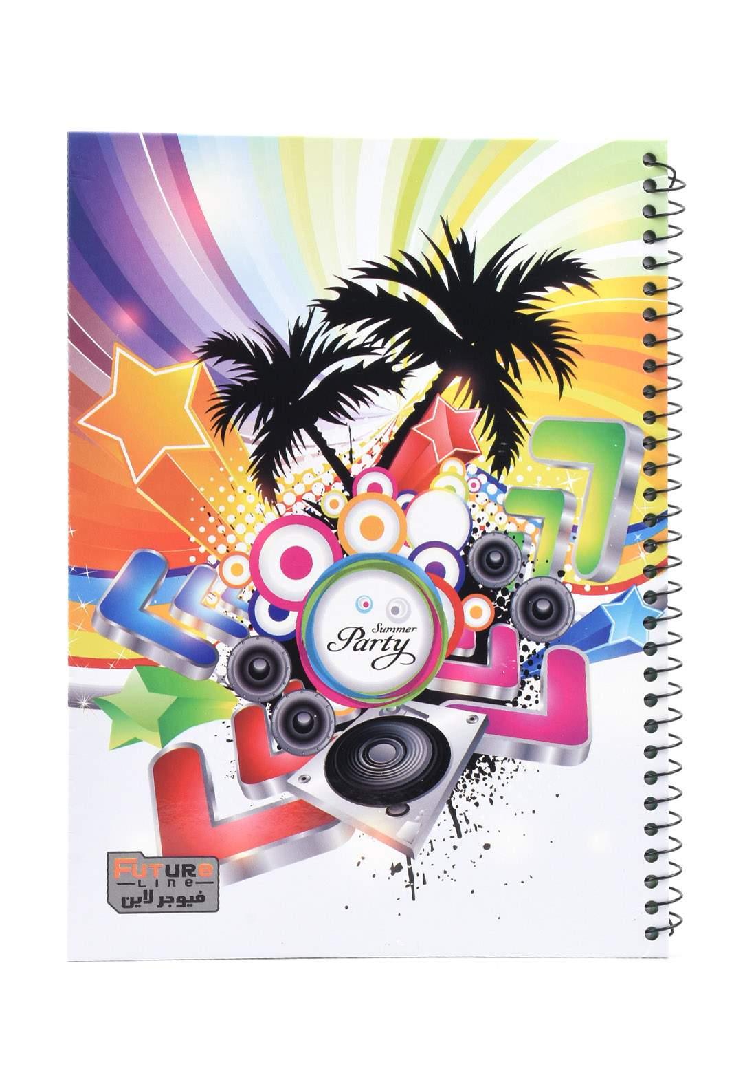 دفتر 100 ورقة سيم برسمة موسيقى KH-3000