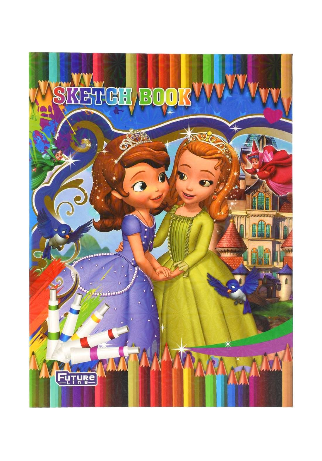 دفتر رسم 20 ورقة برسمة princesses KH-20