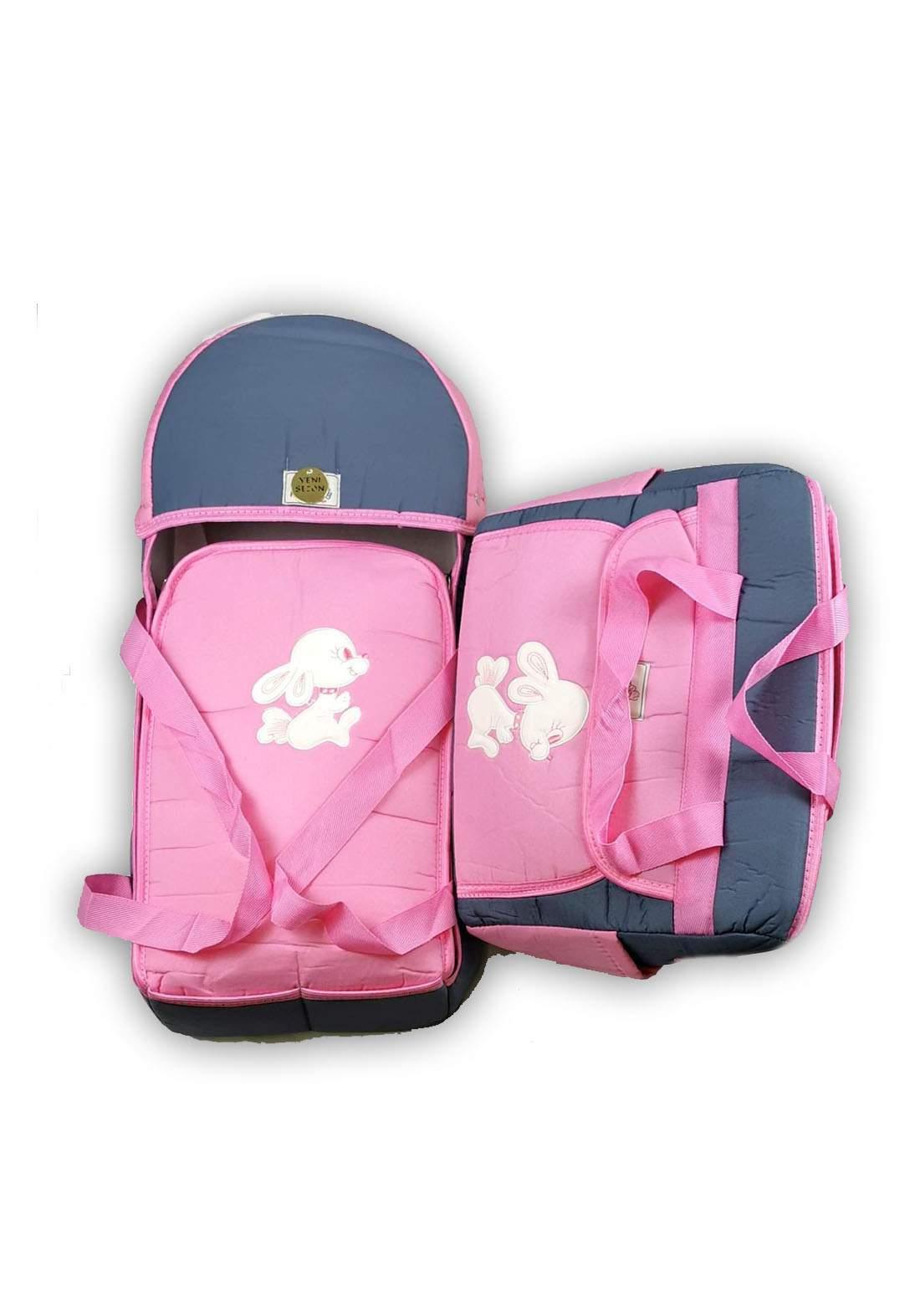 سيت حقيبة ملستزمات وسرير للاطفال