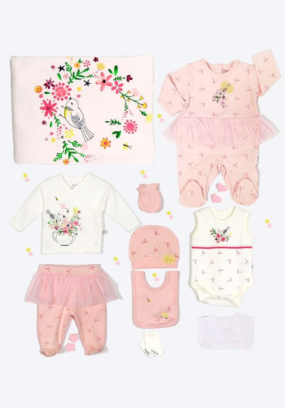 سيت بناتي للاطفال حديثي الولادة وردي اللون