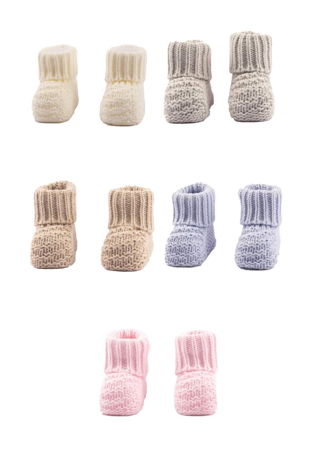 حذاء حياكة للاطفال حديثي الولادة