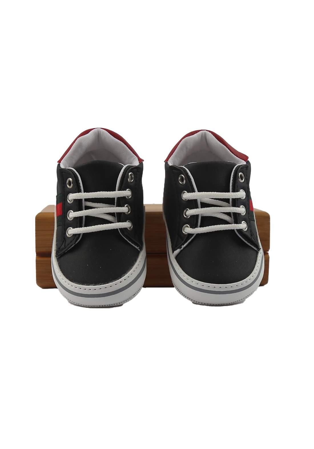حذاء ولادي للأطفال أسود أللون (2115)