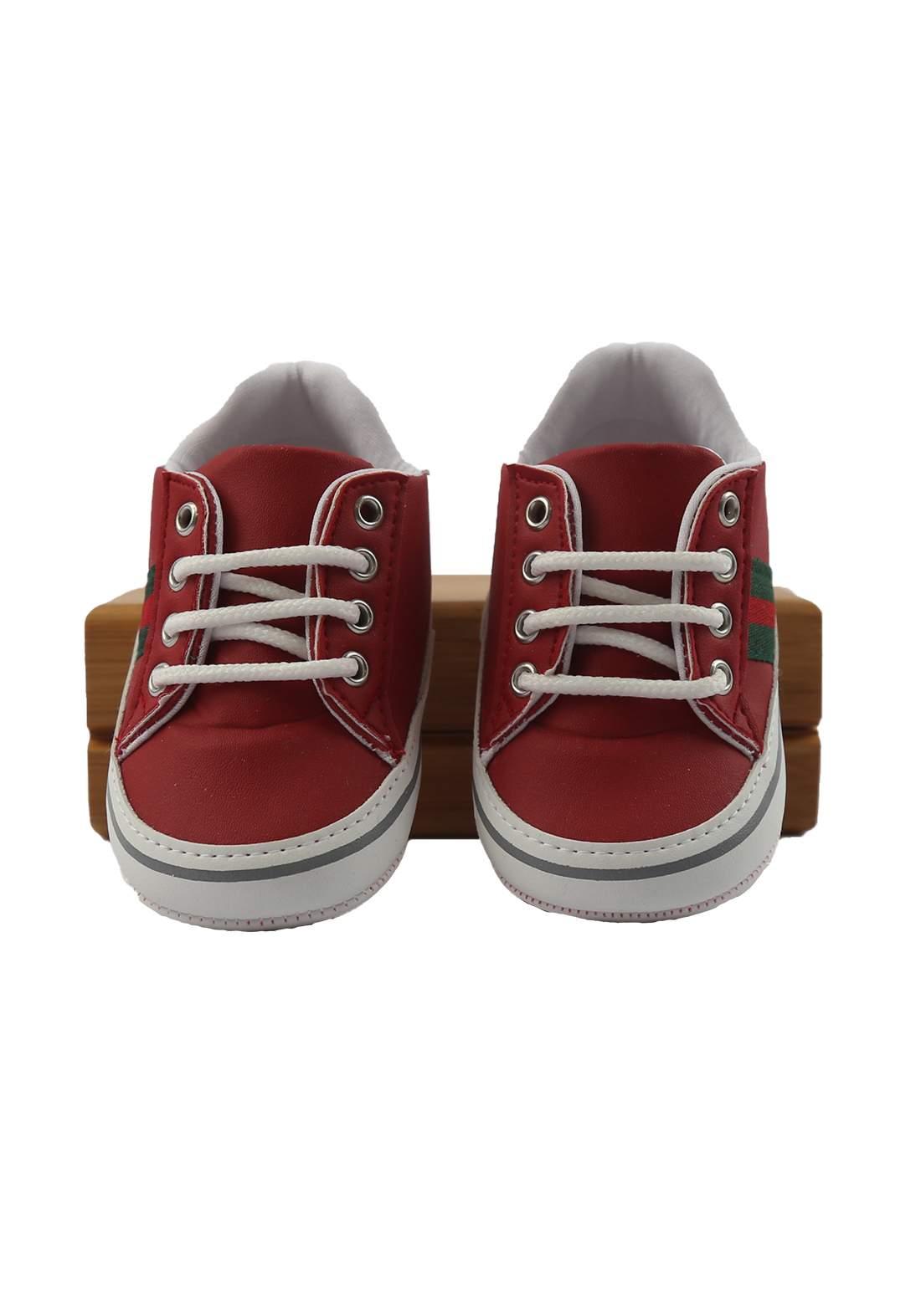 حذاء ولادي للأطفال أحمر أللون (2115)