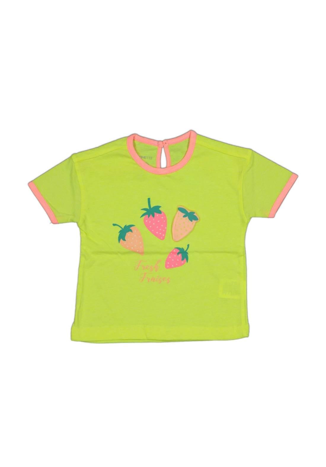 تيشيرت بناتي للأطفال أخضر أللون