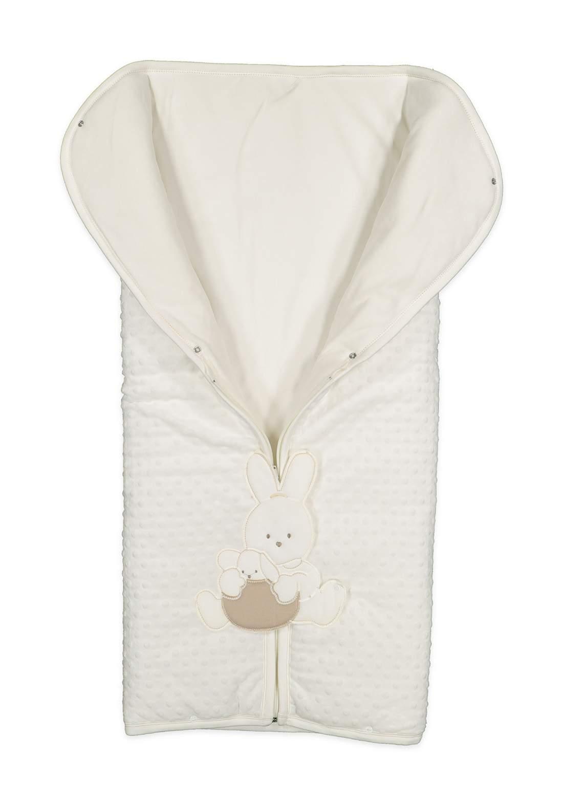 بطانية للاطفال حديثي الولادة ابيض اللون