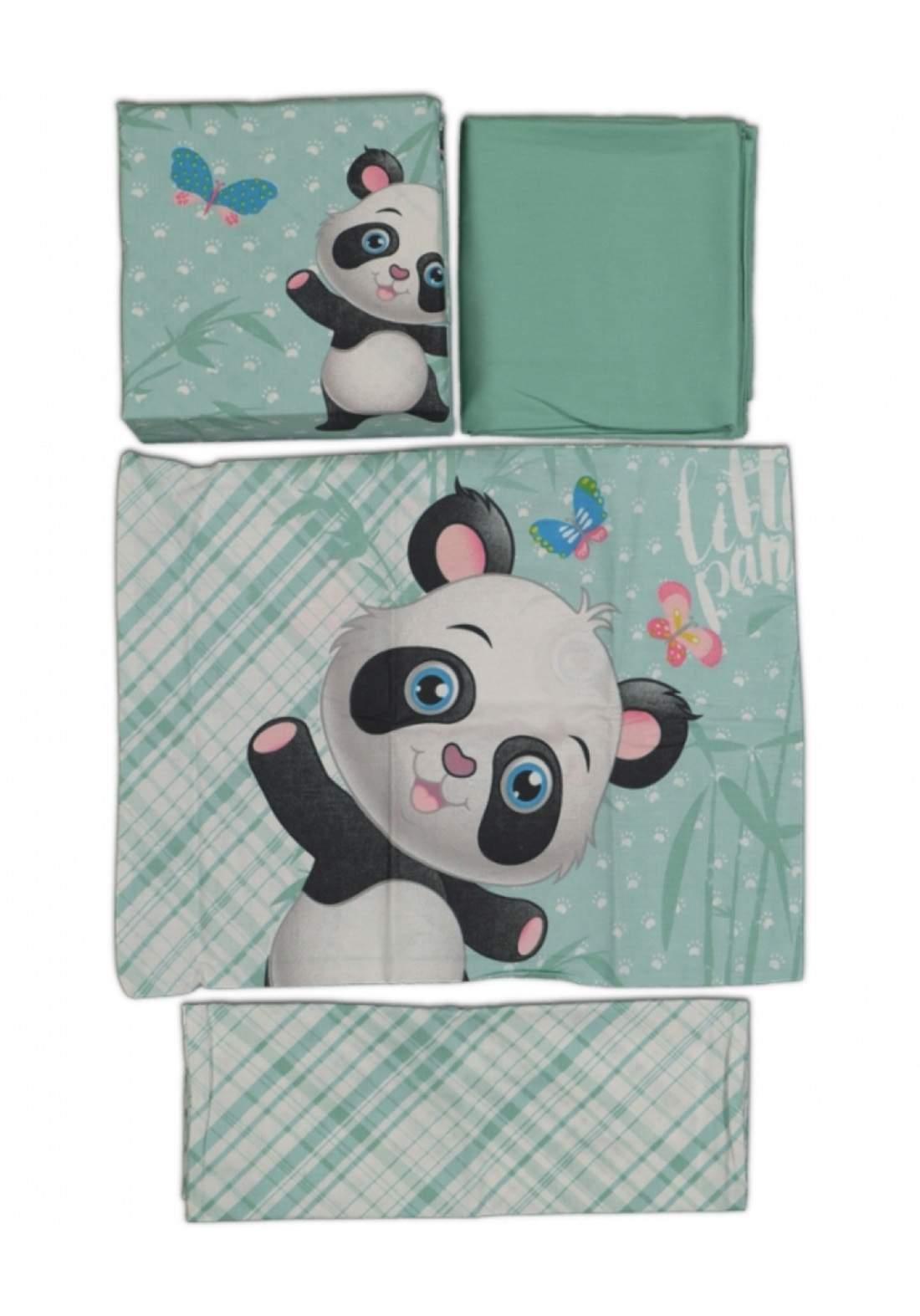 سيت غطاء للاطفال اخضر اللون