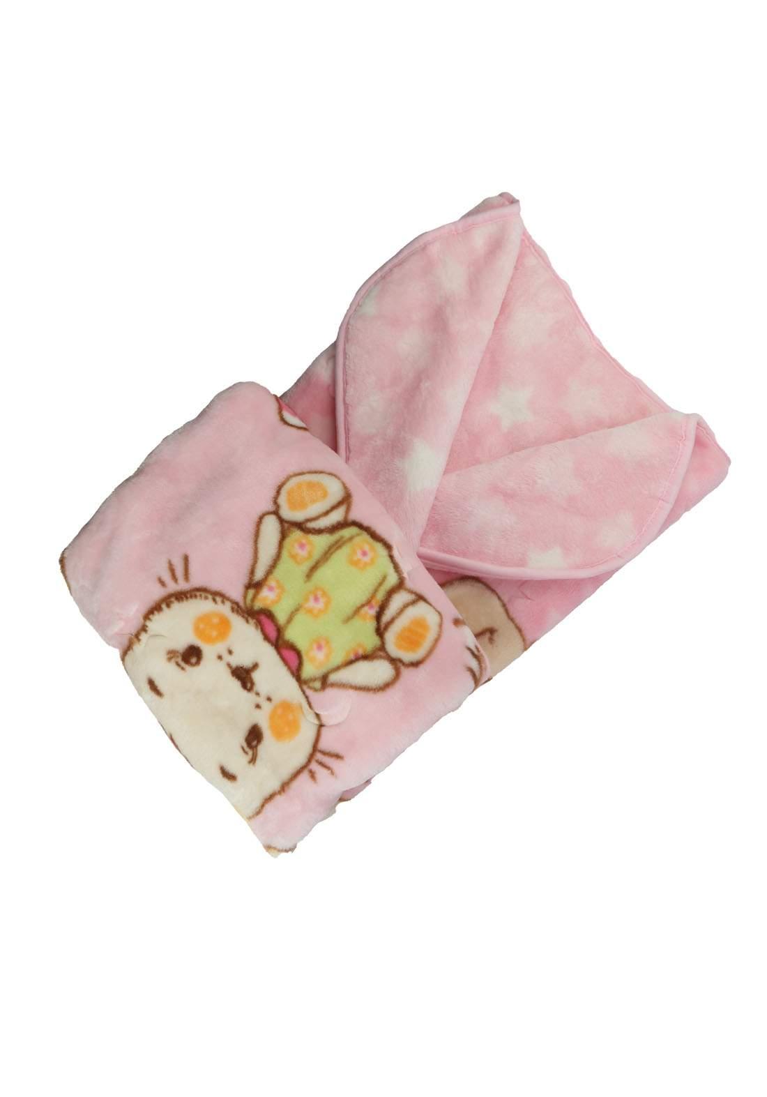 بطانية للاطفال حديثي الولادة وردي اللون  1155