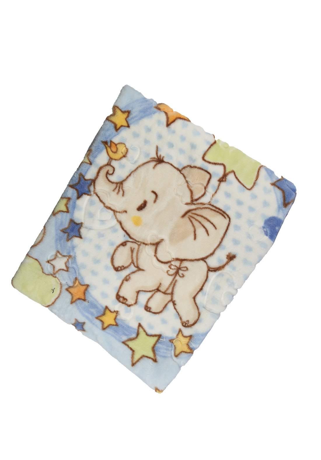 بطانية للاطفال حديثي الولادة سمائي اللون  1155
