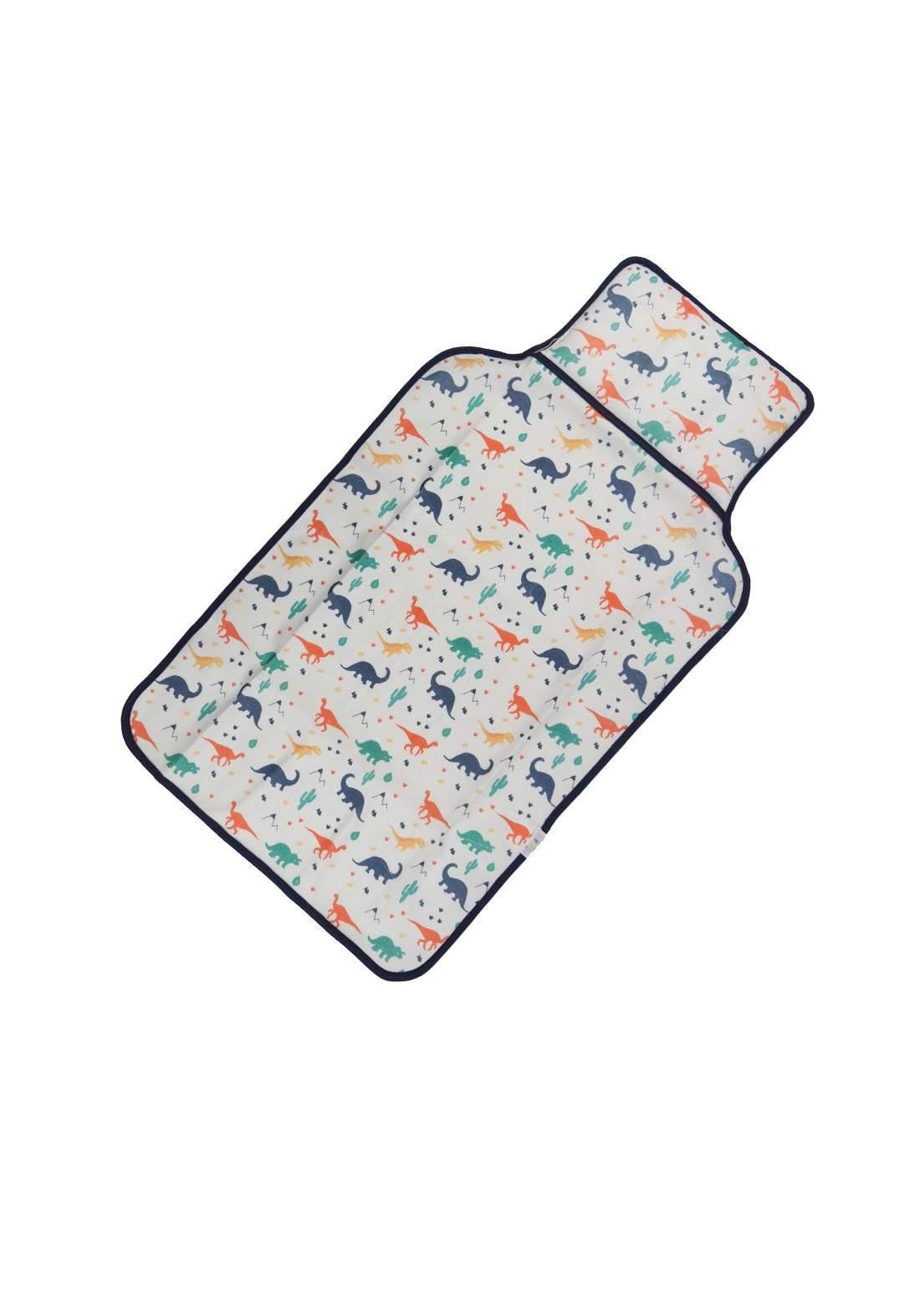 سرير للاطفال حديثي الولادة ابيض ونيلي اللون 6009