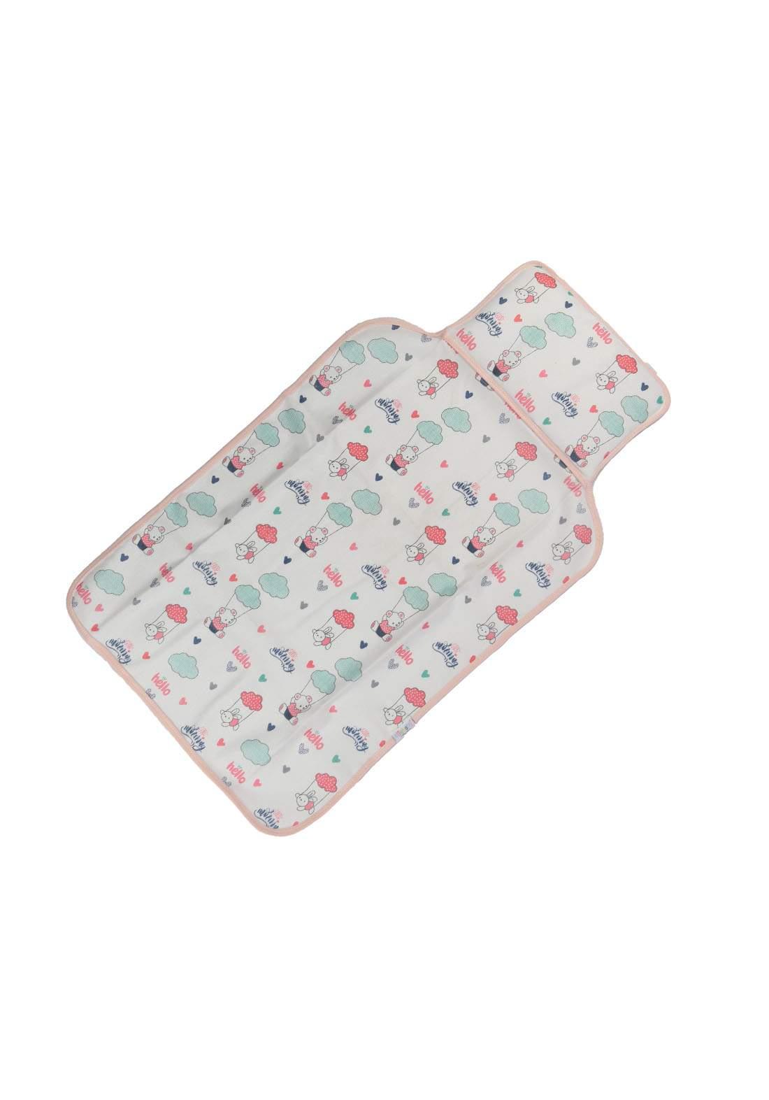سرير للاطفال حديثي الولادة ابيض  ووردي اللون6002