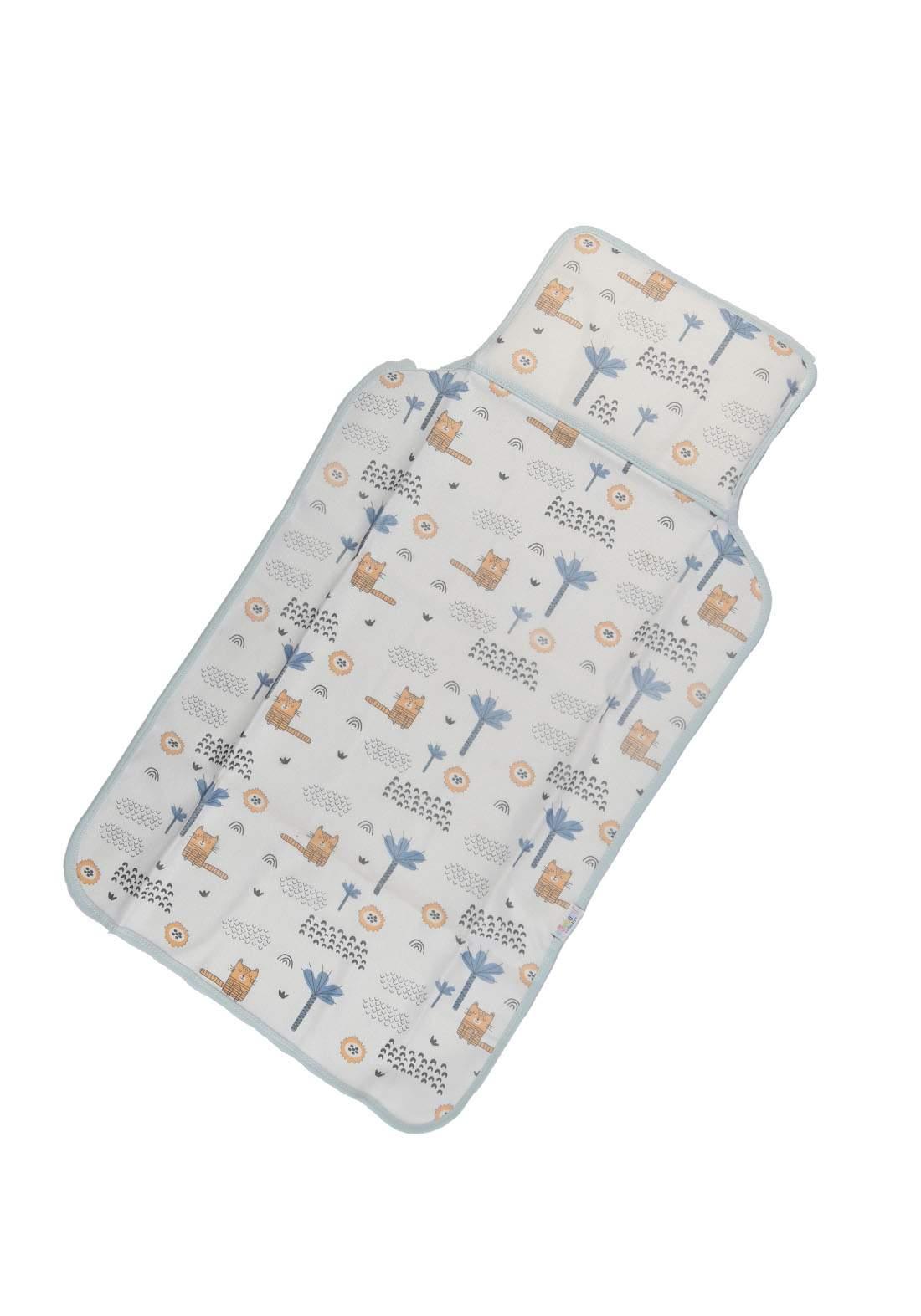 سرير للاطفال حديثي الولادة ابيض وسمائي اللون 6007