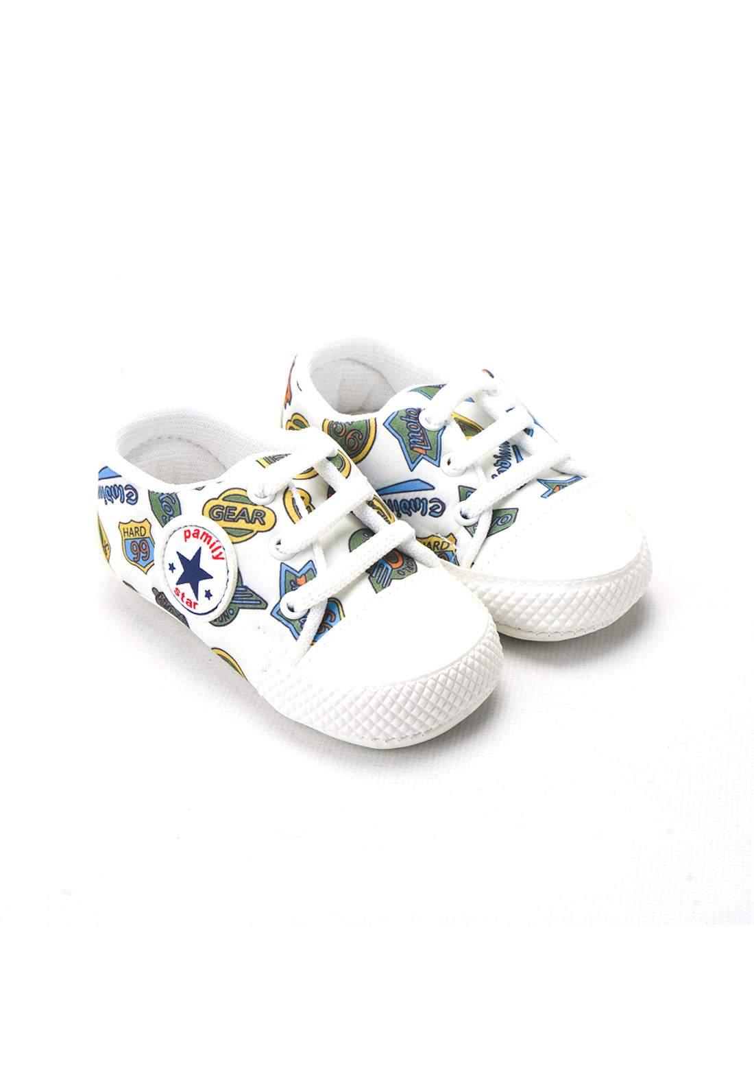 حذاء ولادي للاطفال حديثي الولادة ابيض  اللون