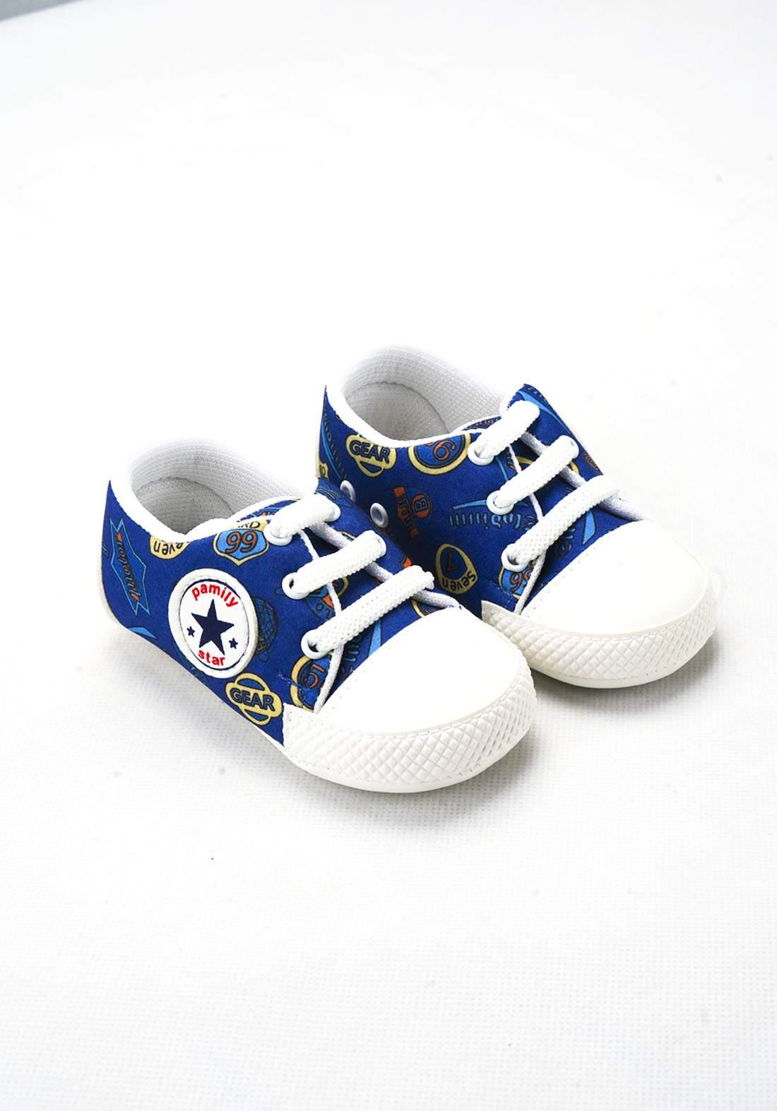 حذاء ولادي للاطفال حديثي الولادة ازرق اللون