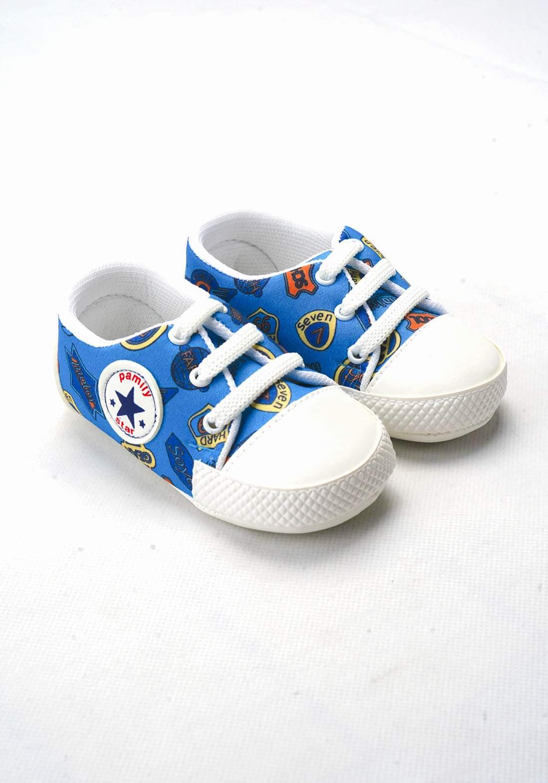 حذاء ولادي للاطفال حديثي الولادة سمائي اللون