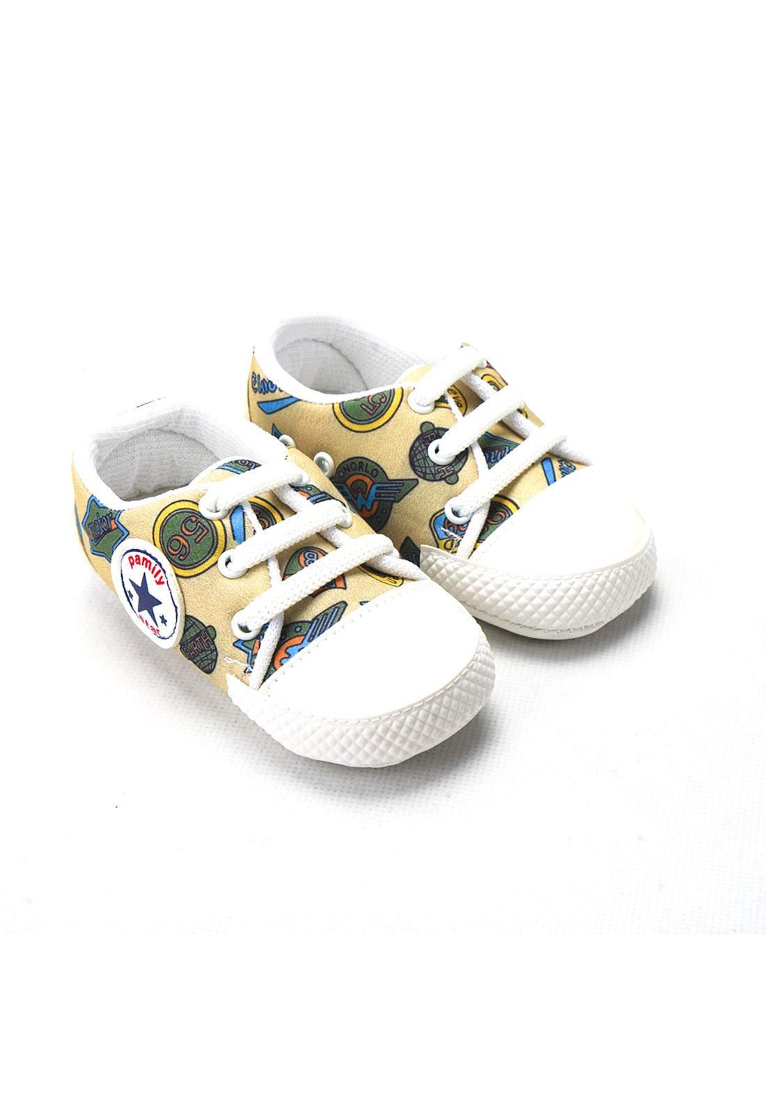 حذاء ولادي للاطفال حديثي الولادة بيجي اللون