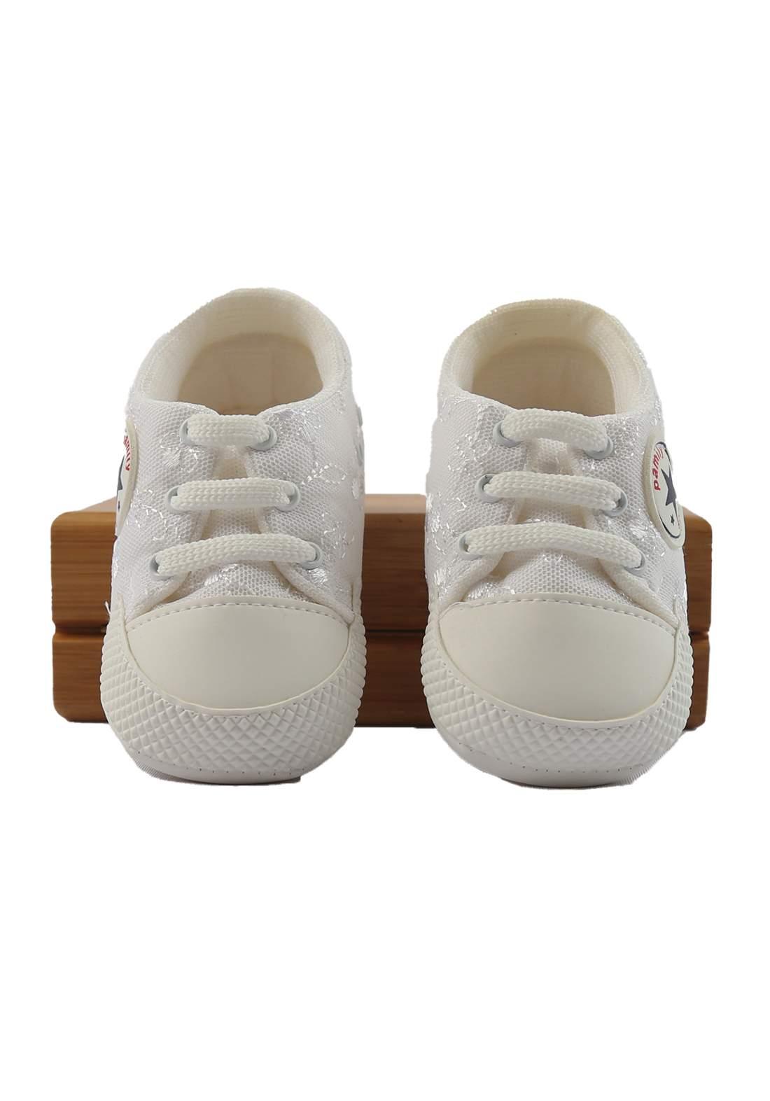 حذاء بناتي  للأطفال أبيض أللون (2240)