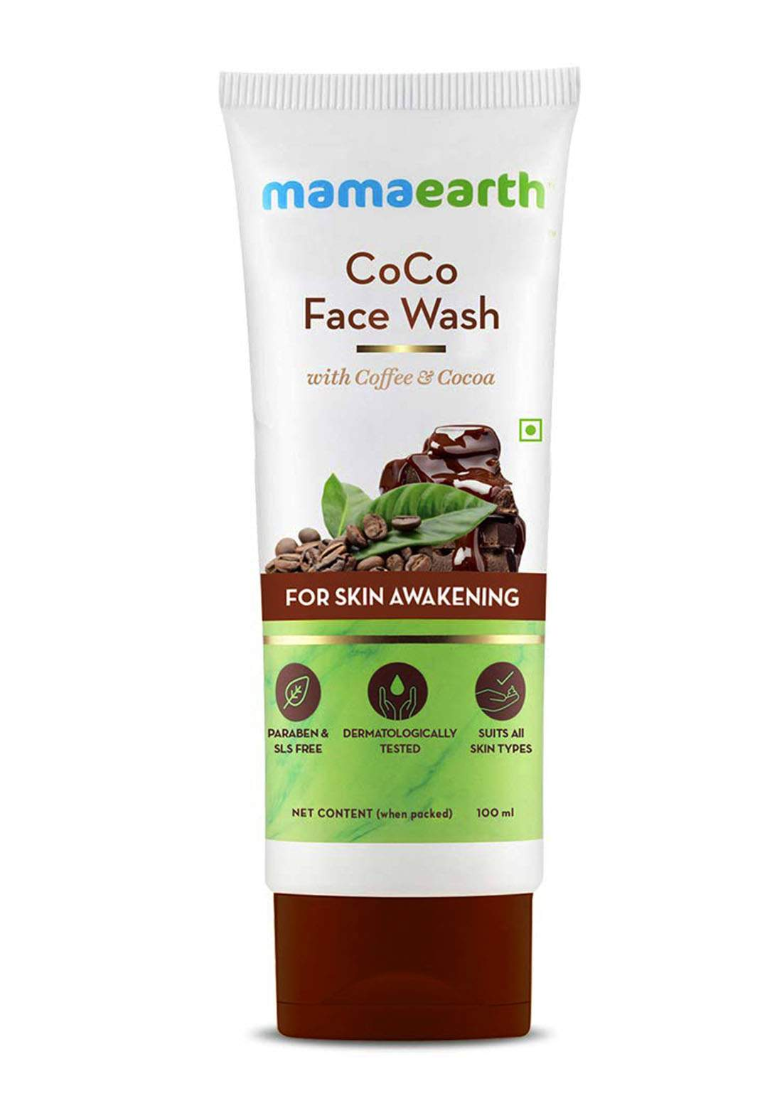 Mamaearth Coco Face Wash With Coffee And Cocoa 100ml غسول للوجه