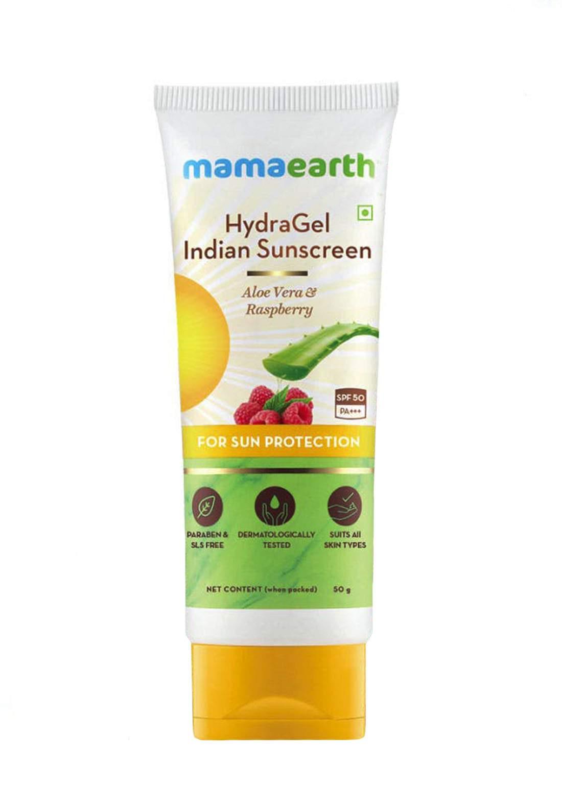 Mamaearth Hydragel Indian Sunscreen SPF 50 50g جل واقي الشمس