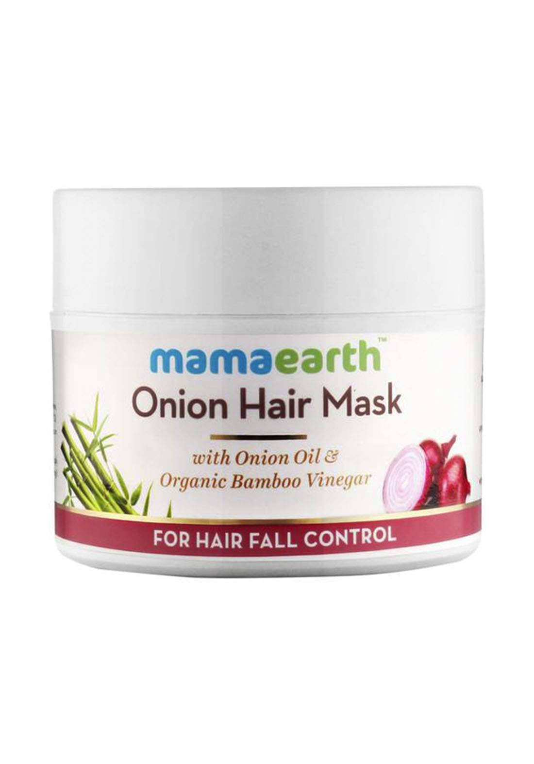 Mamaearth Onion Hair Mask For Dry & Frizzy Hair Controls Hairfall 200ml قناع للشعر