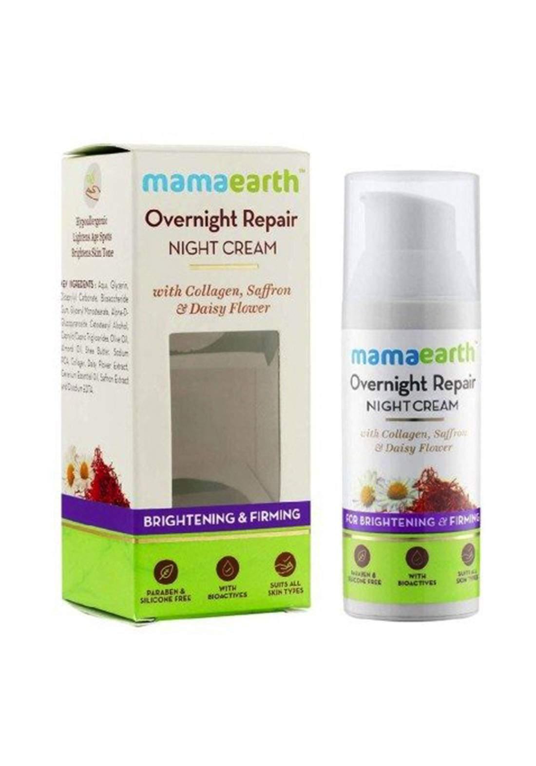Mamaearth Overnight Repair Night Cream 50ml كريم ليلي للبشرة
