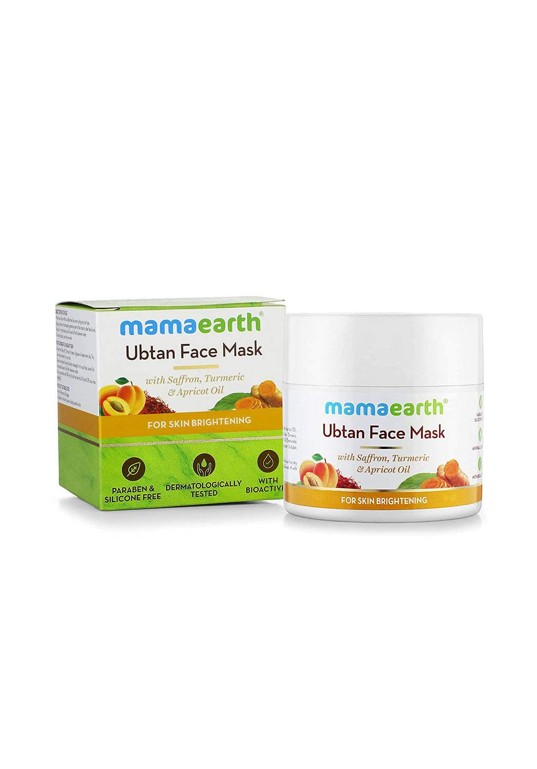 Mamaearth Ubtan Face Pack Mask 100ml قناع للوجه