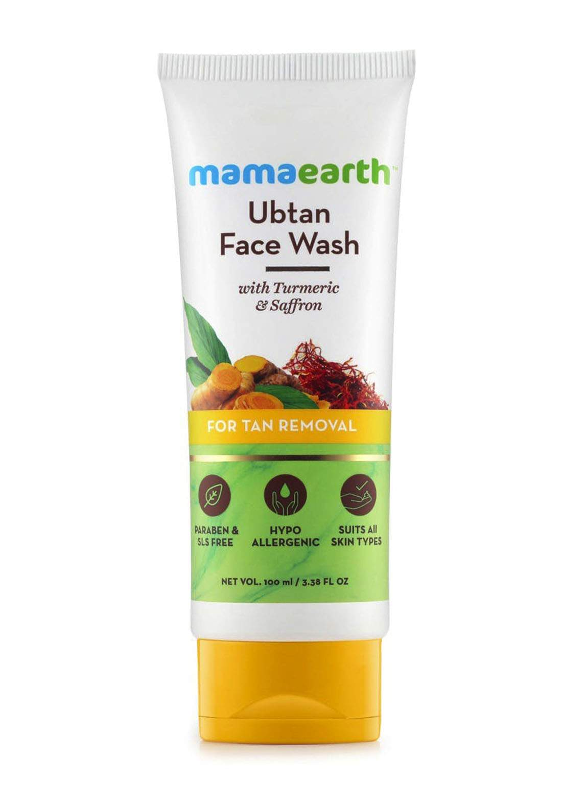 Mamaearth Ubtan Face Wash For Tan Removal 100ml غسول للوجه