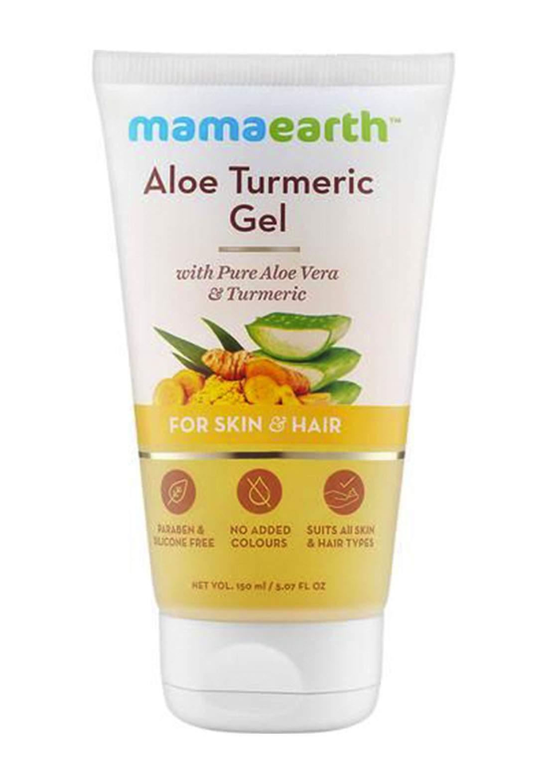 Mamaearth Aloe Turmeric Gel 150ml For Skin & Hair  جل للوجه والشعر