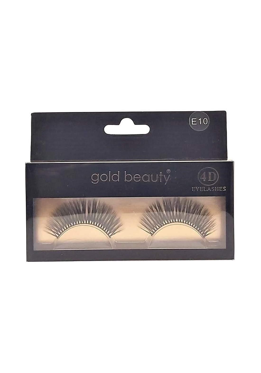 Gold Beauty E10 4D Eyelashes False Eyelashes رموش صناعية