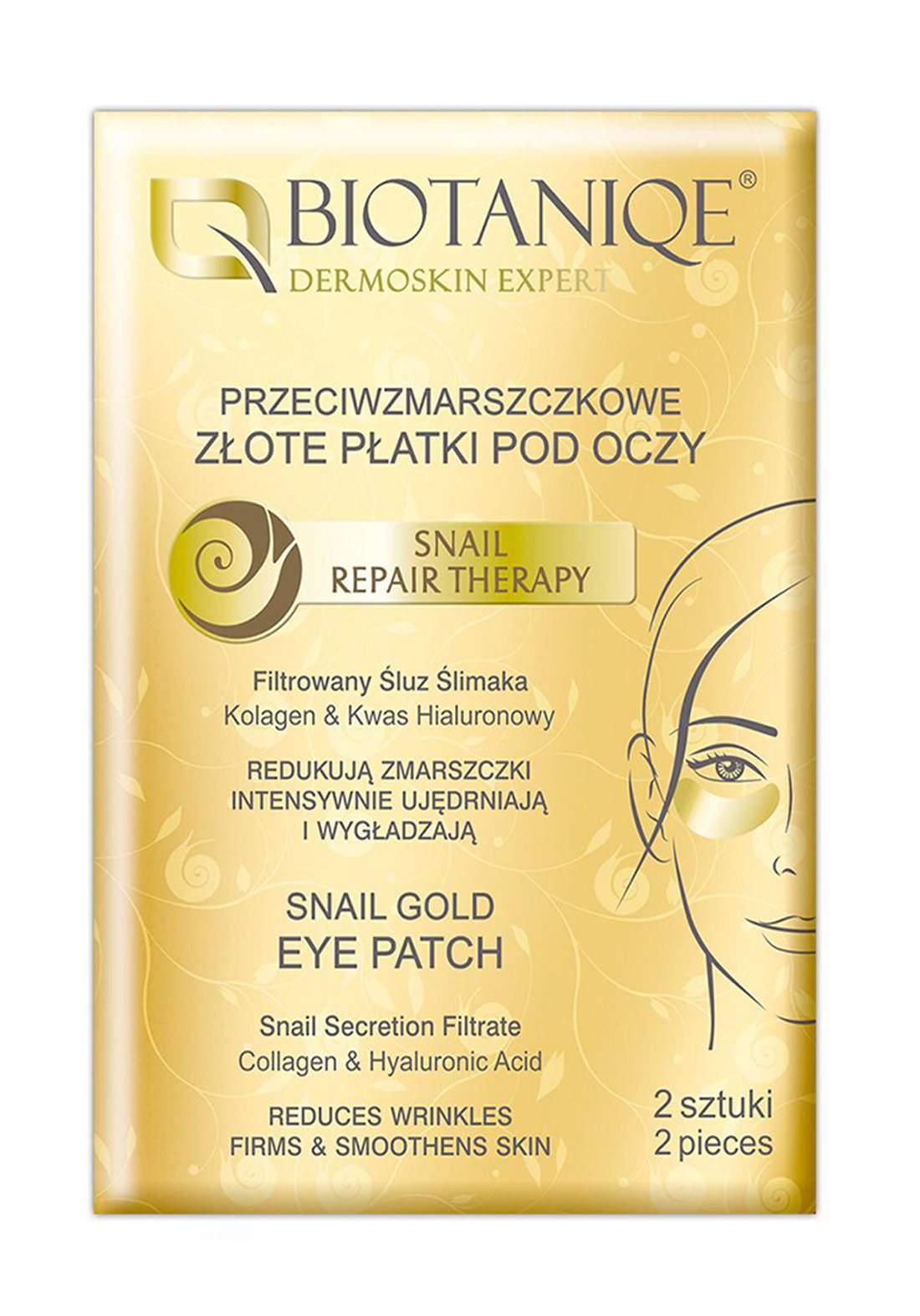 Biotaniqe Snail Gold Eye Patch 2pcs  شرائح لمعالجة الهالات