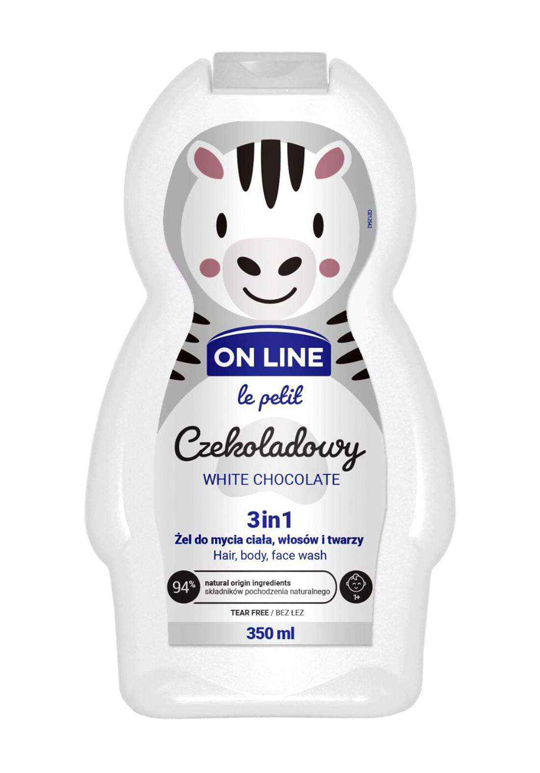 Online White chocolate3 in1Body and face wash and baby shampoo 350 ml غسول للاطفال