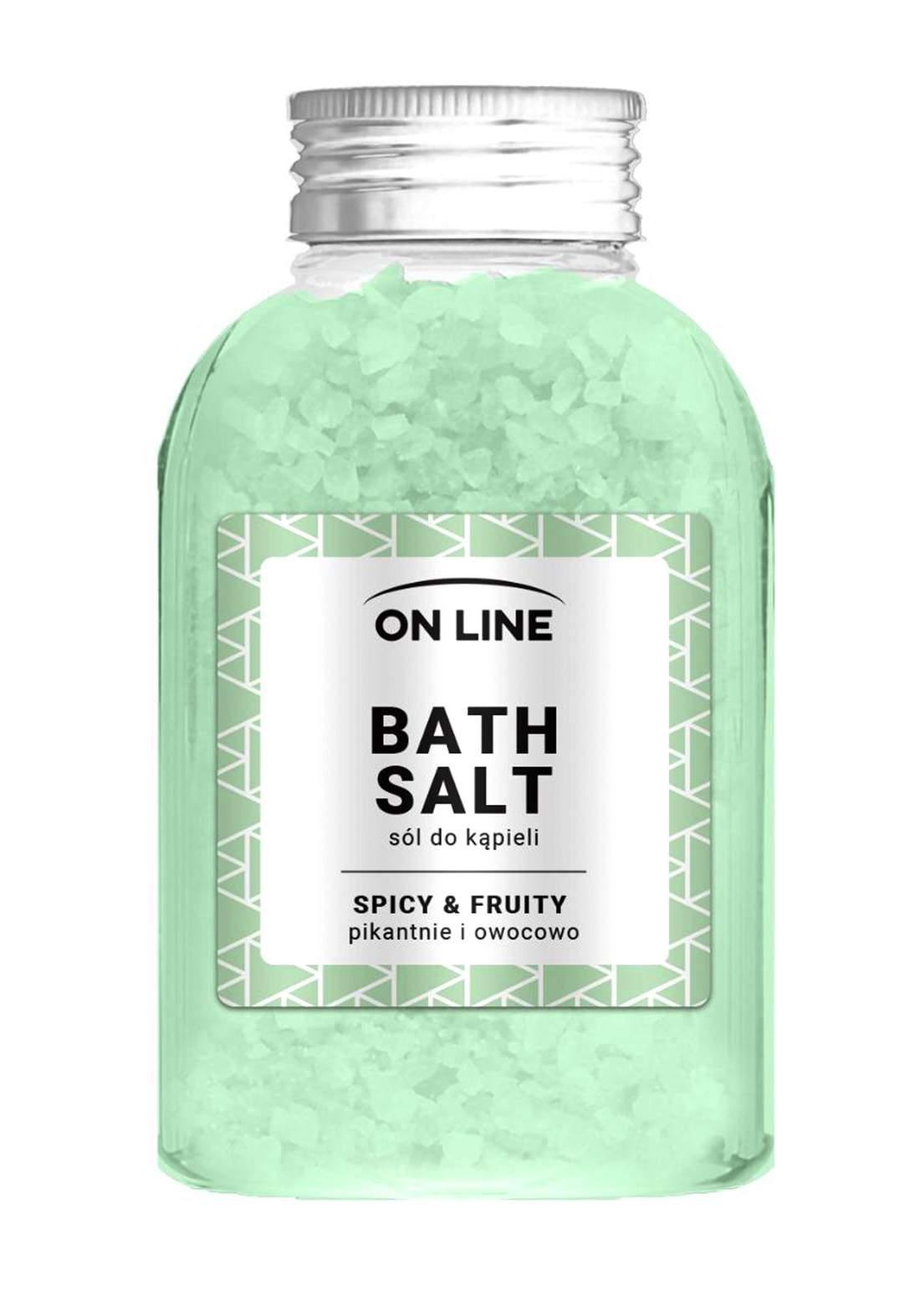 Online Spicy&fruity bath salts 600g املاح العناية بالجسم