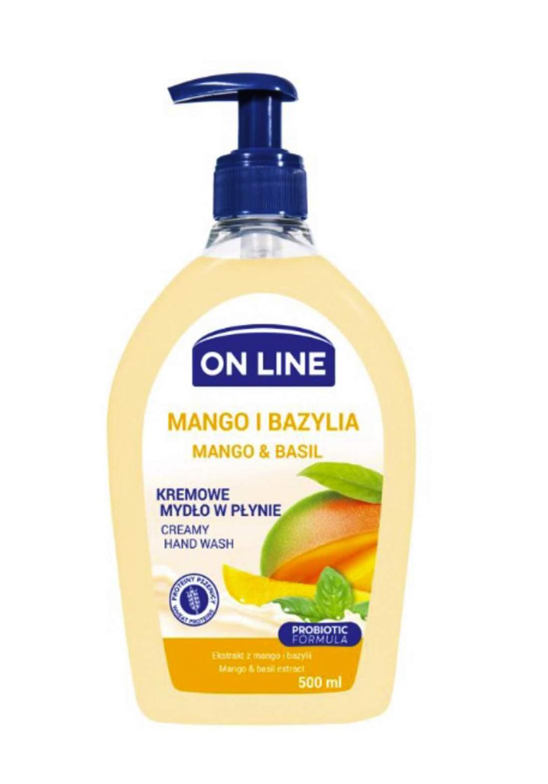 Online Mango&basil Hand wash 500 ml  صابون سائل لليدين