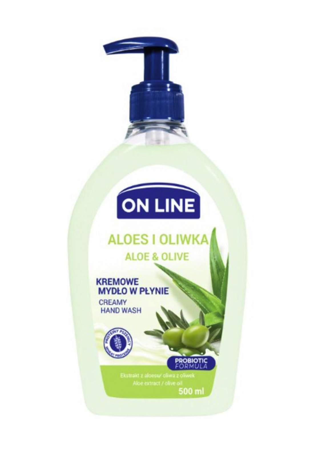 Online Olive&Aloe Hand wash 500 ml  صابون سائل لليدين