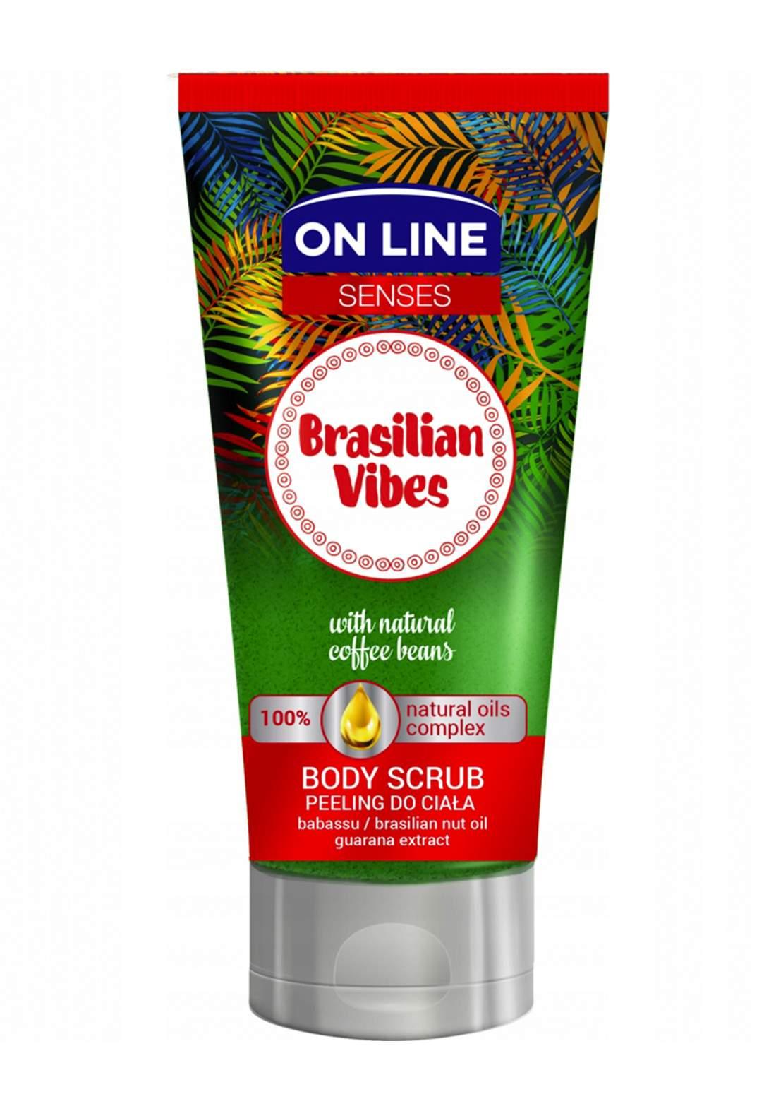 Online Body Scrub Brasilian Vibes 200ml مقشر جسم