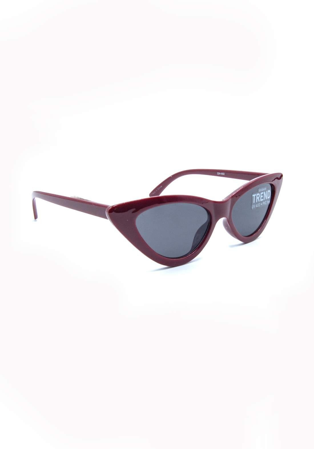 نظارة شمسية نسائية بأطار ماروني اللون