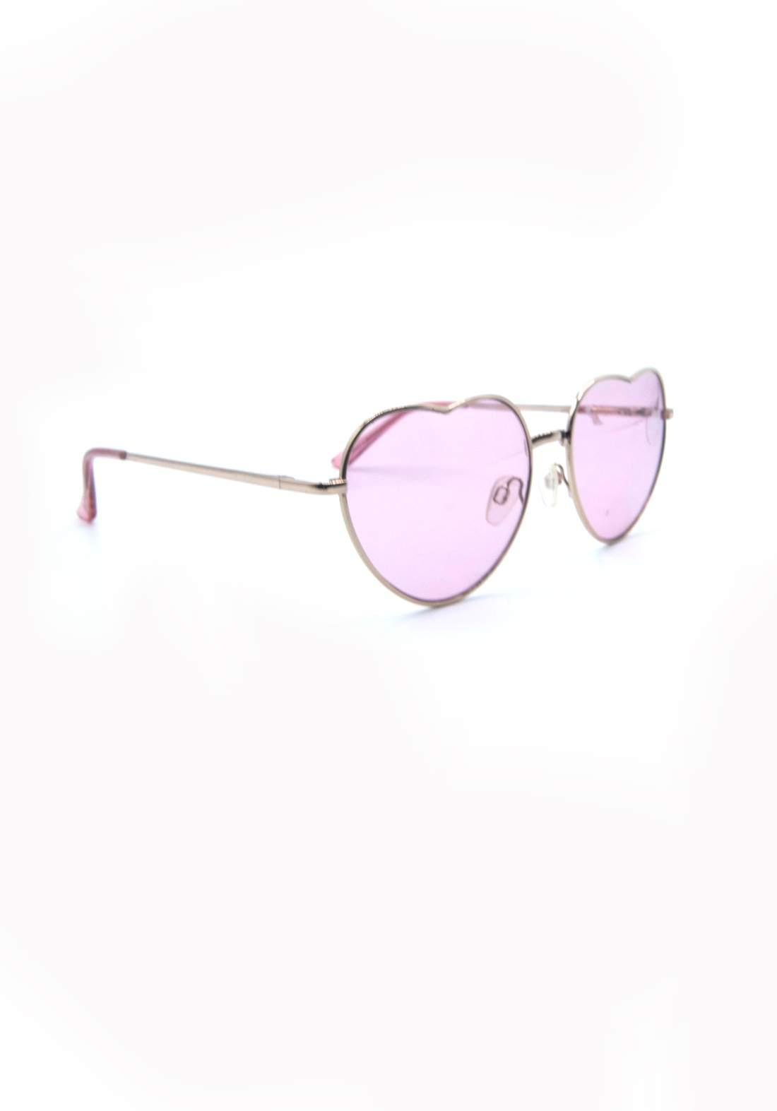 نظارة شمسية نسائية بأطار ذهبي اللون