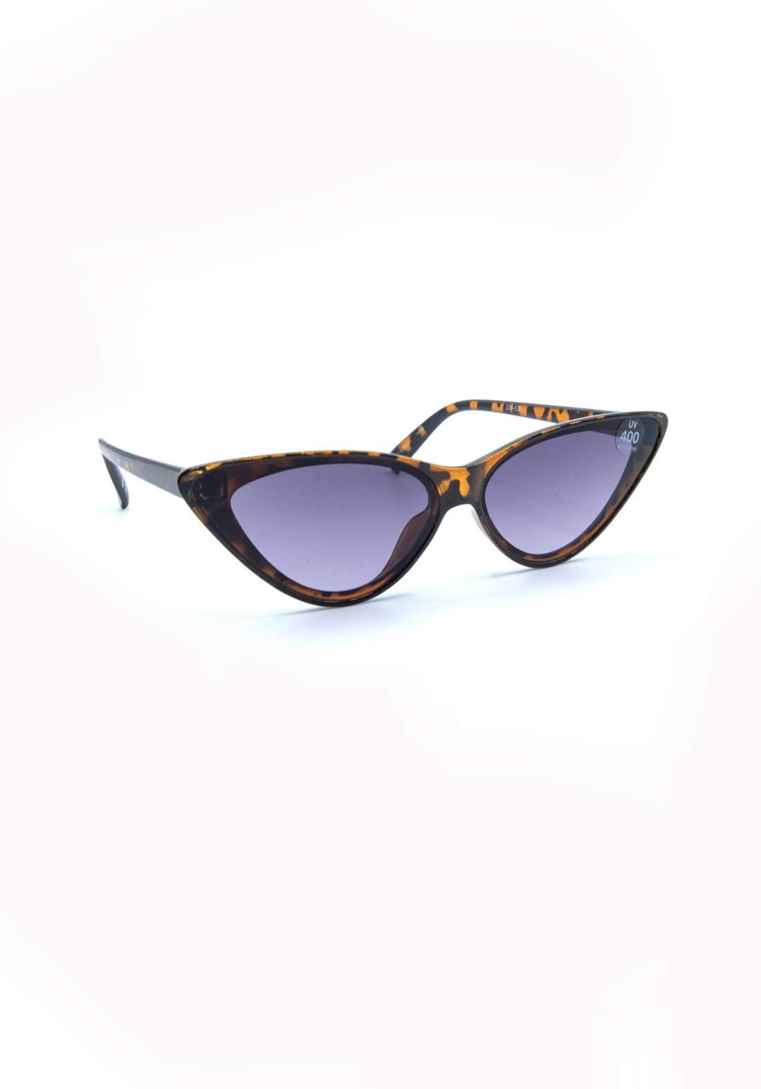 نظارة شمسية نسائية بأطار جلد النمر