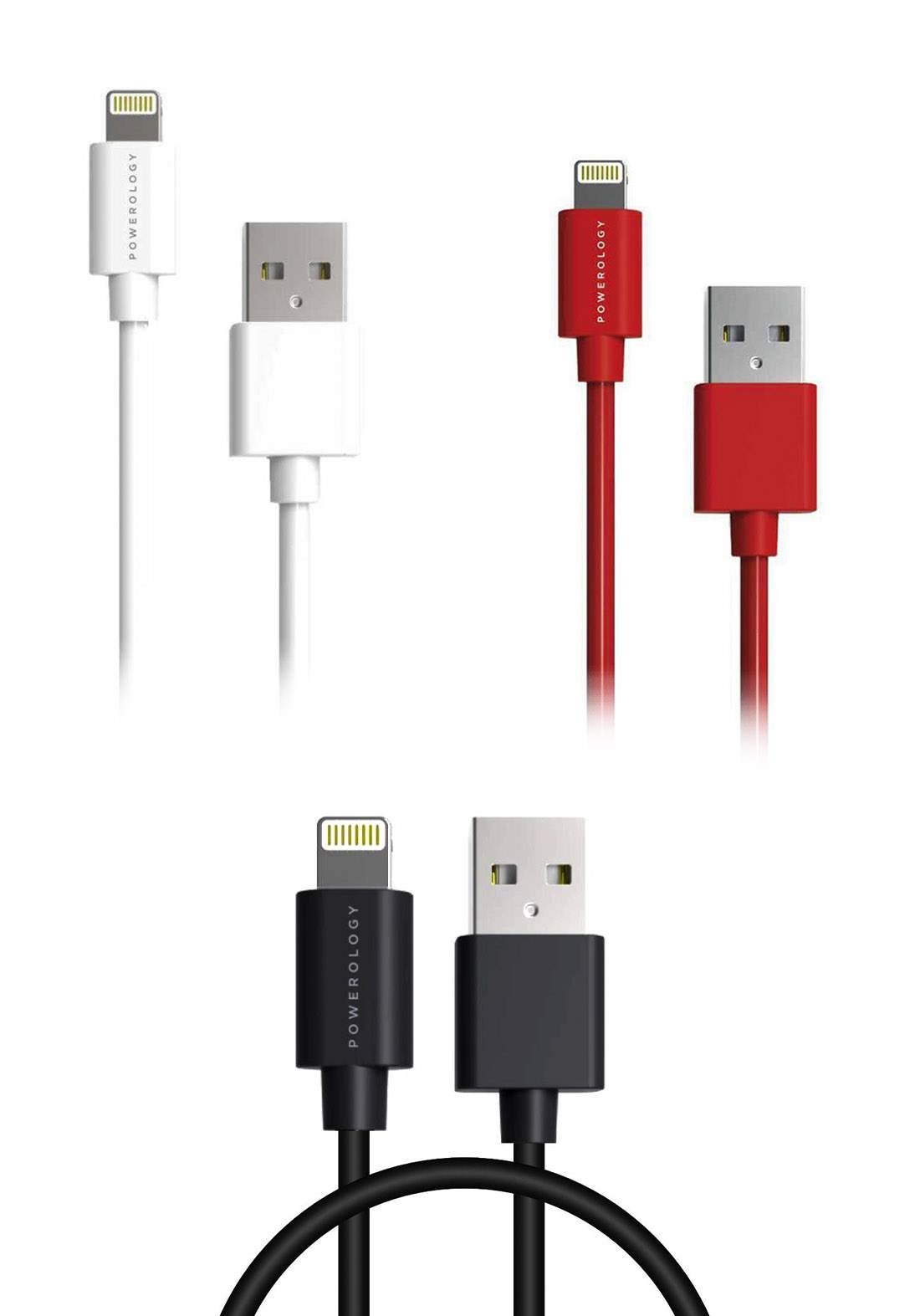 Powerology P12BL USB-A to Lightning Cable 1.2M كابل
