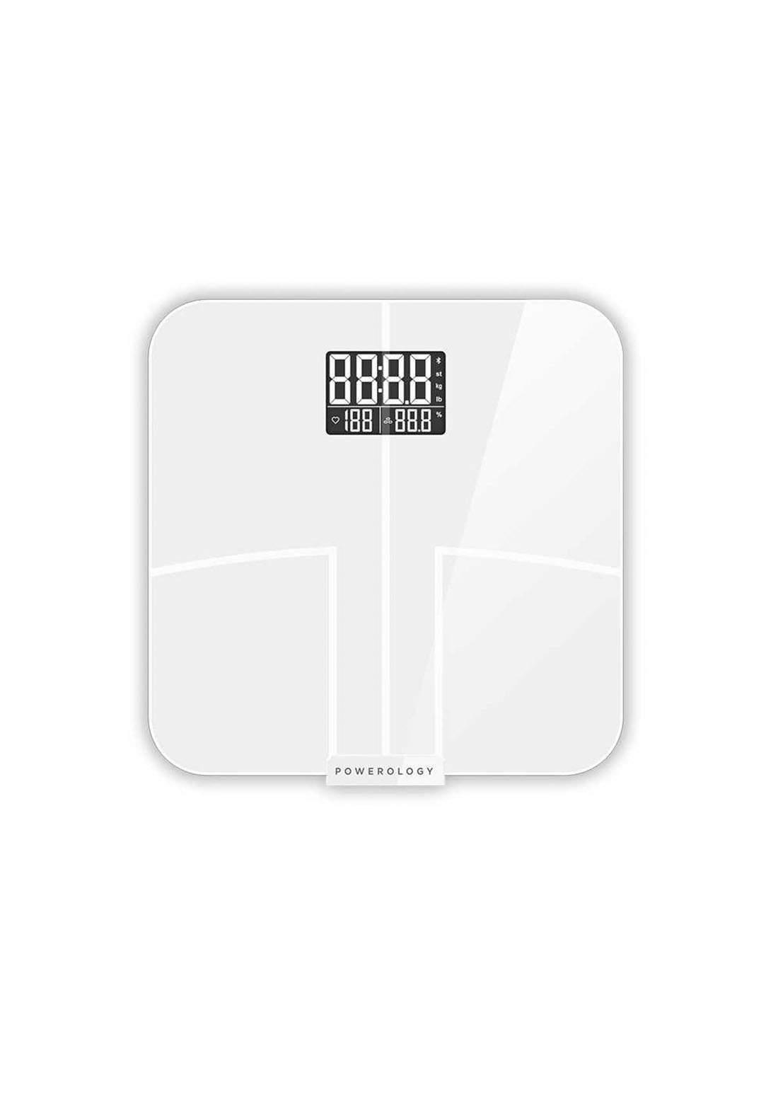 Powerology PFBSSWH Smart Body Scale Pro ميزان الجسم الذكي