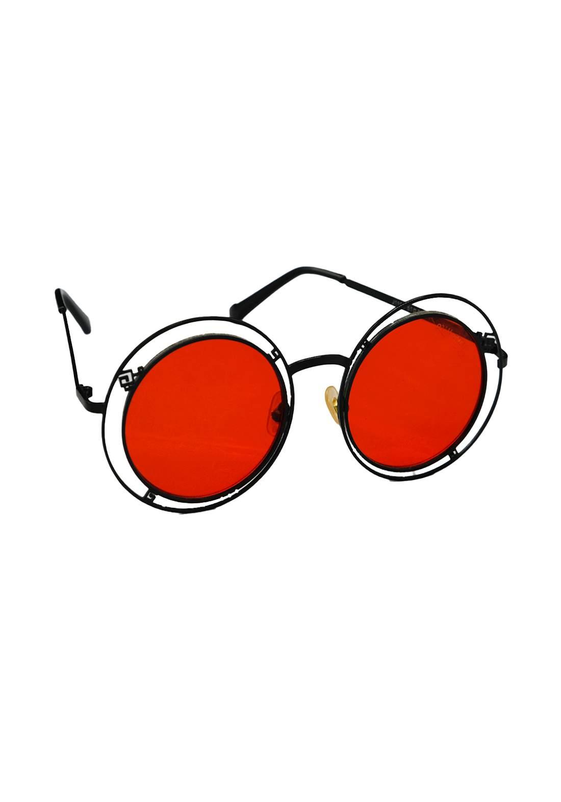 نظارات شمسية نسائية برتقالي اللون