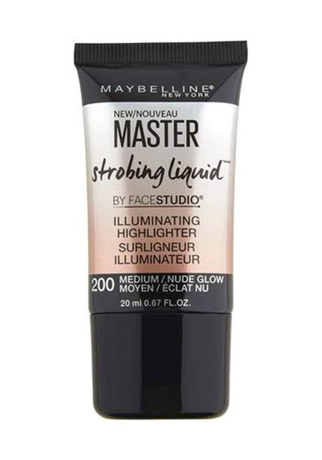 (022-0693)Maybelline Master Strobing Liquid Illuminating Highlighter 200 Medium 20ml هايلايتر