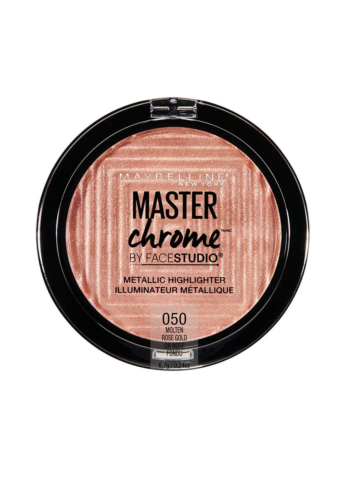 (022-1122)Maybelline Master Chrome Metallic Highlighter No:50  Rose Gold هايلايتر