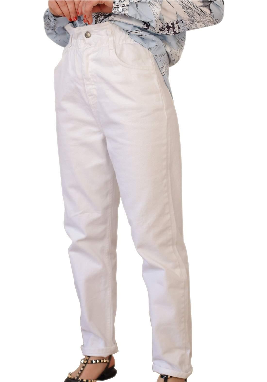 بنطلون جينز نسائي ابيض اللون