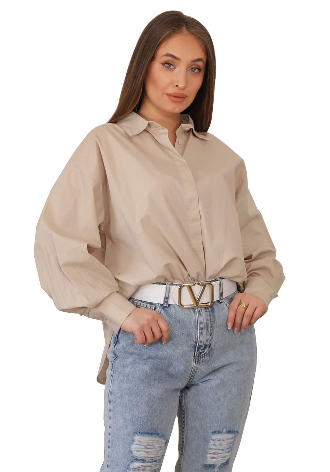 قميص نسائي بيجي اللون